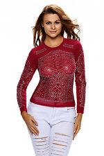 Boldgal Red T-shirt Crop Ladies Cami Long Sleeve Designer Top