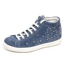 E2078 sneaker bimba avio NERO GIARDINI JUNIOR scarpe borchie shoe kid girl c504cedb1ed