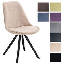 Chaise visiteur PEGLEG rembourrée revêtement tissu pieds  bois noir forme carrée