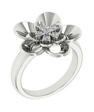 18.60Mm Right Hand Annivarsary Ring Round Diamond I1 G 0.35 Ct 14K Solid Gold