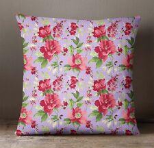 S4Sassy Lavender Pillow Cover Floral Cushion Case Sofa Pillowcase Indian Decor