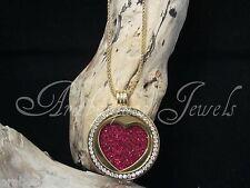 Original Sterlina mi Milano necklace/pendant Set. crystal/heart coins/moneda ajmm