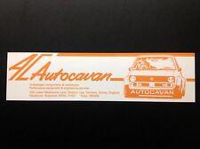 Autocavan Sticker (ORANGE) 1970 1980's, 244x63mm VW Motorsport UK