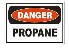Danger Propane Sticker Safety Sign Decal Label D869