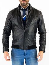 US Men Leather Jacket Hommes veste cuir Herren Lederjacke chaqueta de cuero Q7a5