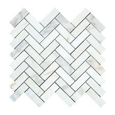 Calacatta Gold (Italian Calcutta) Marble 1 X 3 Herringbone Mosaic Tile