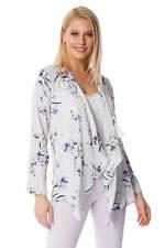 Roman Originals Women Floral Long Sleeve Kimono Jacket