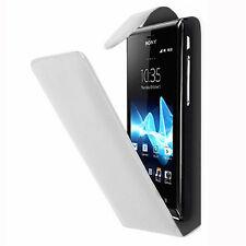 Piel Artificial Funda protectora de móvil con tapa para Sony Xperia T LT30p /