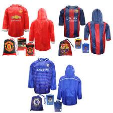 Barcellona Chelsea Manchester United Per Bambini Con Cappuccio Calcio Poncho Pioggia Camicia