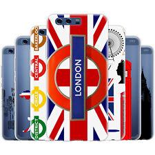 dessana London Muster Silikon Schutz Hülle Case Handy Tasche Cover für Huawei