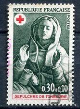 FRANCE TIMBRE OBL N° 1779 SEPULTURE DE TONNERRE MARIE MADELAINE CROIX ROUGE