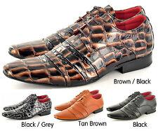 Hombre Estilo Italiano Forrado Piel Formal/zapatos Casual con cordones Tallas GB