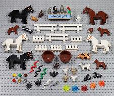 LEGO - 55 pcs Animals Lot - Horse Dog Cat Chicken Rabbit Monkey Skunk Pets Farm