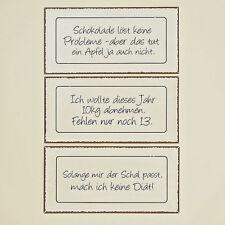 """Blechschild mit Spruch creme schwarz braun 40x20 cm verschiedene Sprüche """"Diät"""""""