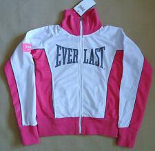 Nuevas señoras White/pink Everlast con cierre de cremallera Pista TAMAÑOS TOP 8 Y 12