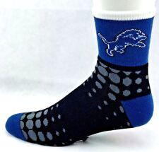 Detroit Lions Football M1500R Digi Squares Quarter Socks Blue Black Gray White