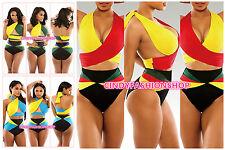NEW Women Sexy Halter High Waist Bikini Set Bandage Swimwear Monokini SwimSuit