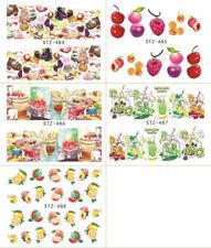 Nagelsticker Nail Aufkleber Tattoo Obst Früchte Eis Kuchen Sommer  480-488