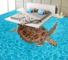 3D Tartaruga Di Mare 5 Pavimento Foto Wallpaper Murales Muro Stampa Decalcomania