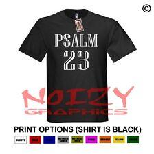 Psalm 23 Christian Shirt Black T-Shirt Jesus Hip Hop Rap Jersey Style Religious