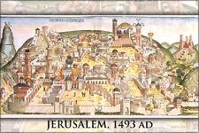 Poster, Many Sizes; Jerusalem From Nuremberg Chronicles 1493