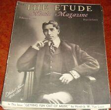Vintage THE ETUDE Sheet Music Magazine February 1936 Issue great ads art pics