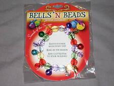 Colorful Bells Beads Jingle Holiday Seasonal Fashion Festive Bracelet NEW!