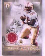kevan barlow cedrick wilson 2x rookie rc jersey patch 49ers 2001
