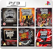 Guitar Hero Metallica/Warriors/Legends of Rock/Van Halen/DJ PS3 *Multi list*
