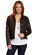 MIRACLEBODY  by Miraclesuit Women's Mahogany Coated Denim Jacket Sz S NWT $156
