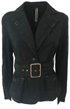 SPORTMAX CODE giacca donna nera mod SESTRI con cintura 98% cotone 2% elastan