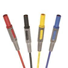 Labor Messleitungen m. 4mm Sicherheitssteckern 0,5/1/1,5m rot/schwarz/gelb/blau