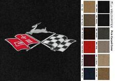 Lloyd Mats Chevrolet Impala Cross Flags Velourtex Front Floor Mats (1958-1996)