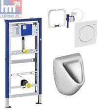 Komplett Set Geberit Duofix Basic mit  HyBasic Handauslösung u. Eurovit Urinal