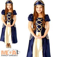 Renaissance Princess Girls Fancy Dress Historical Book Week Day Childs Costume