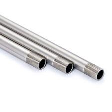 Pendelrohr aus Messing Nickel matt 20-100cm 2 x Gewinde M10x1 Edelstahl Rohr