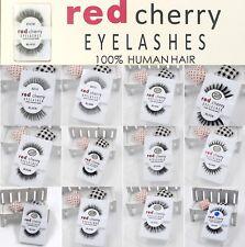 RedCherry Handmade 100% False Human Hair Long Natural Eyelashes Extension Makeup