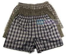 Pack of 6 Men's Woven Boxer Shorts, Loose Fit Cotton Underwear, S M L XL XXL