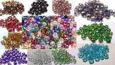 30-35 cuentas de vidrio cristal facetado rondelle elegir entre 41 Colores 8 10mm, 12mm
