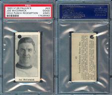 1923 V128 PAULIN'S CANDY #43 JOE McCORMICK PSA 2 MC