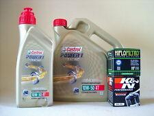 Castrol Power 1 Racing 10W50 Öl + Ölfilter TRIUMPH 600 TT Bj 2000-2005