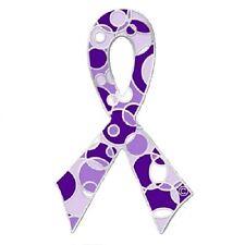 Purple Ribbon Awareness Pin Retro Bubble Pin Many Cancer Cause Fibromyalgia ADHD