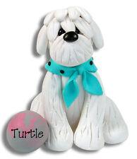 MALTESE / SHIH TZU Dog  Personalized Ornament Handmade Polymer Clay by Deb & Co