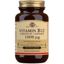 Solgar Vitamin B12 1000ug - Choose either 100 or 250 Nuggets
