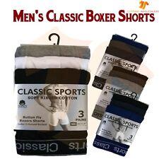 Nouveau 12 Paires Homme Designer Plain Classique Sport Coton Boxer Shorts Sous-Vêtements Lot