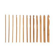 Crochet 15cm bambou N° 3 au 10 mercerie tricot laine coton dentelle fil aiguille