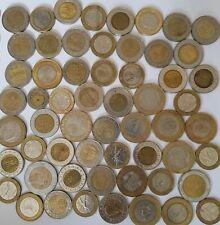 Bi-metallic coins from across the world. Africa, Asia, South America bulk lot