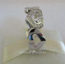 Genuine 925 Sterling Silver CZ Heart Ring