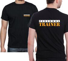 Personal Trainer maglietta, stampa anteriore e posteriore nero GYM TRAINING TEE