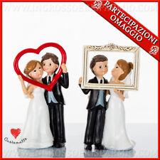Bomboniere statuine coppia sposi idee solidali originali matrimonio Cuorematto